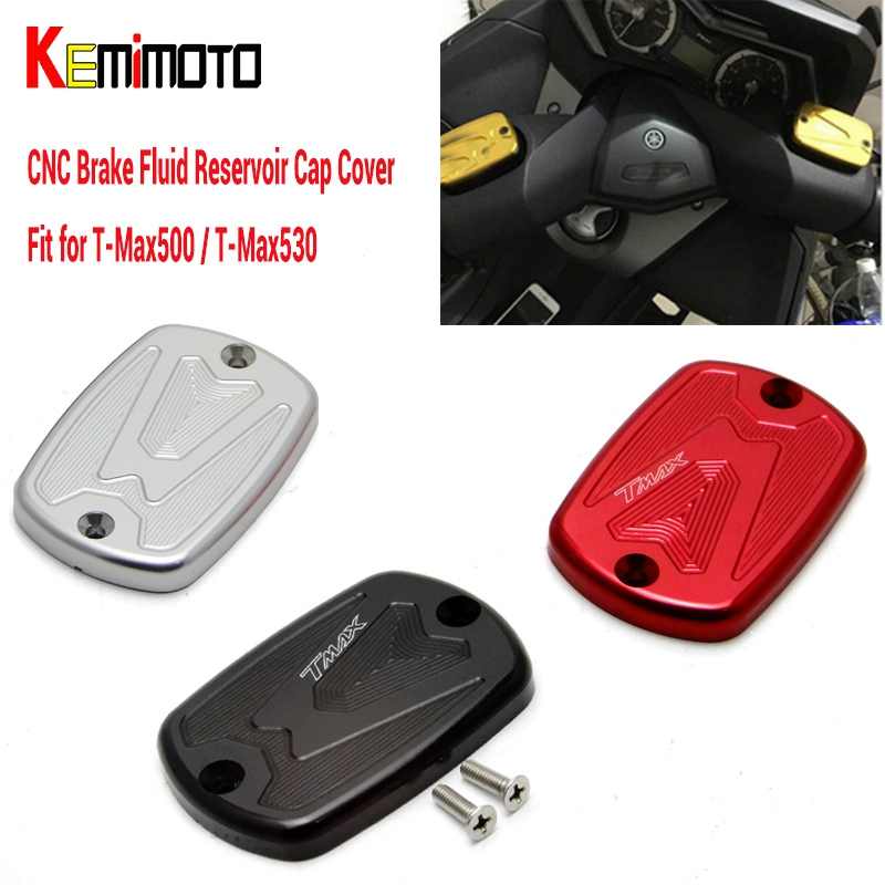 T MAX Tmax 530 500 CNC Brake Fluid Reservoir Cap Cover For Yamaha T Max T-Max 500 2004-2011 Tmax 530 2012 2013 2014 motorcycle cnc front brake fluid reservoir cap cover for yamaha t max 530 500 tmax530 xp530 2012 2016 tmax500 xp500 2008 2011
