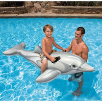 Egoes INTEX 58535 Inflatable Kids Ride on Dolphin Swimming Pool Play
