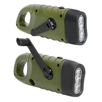 Portable LED Flashlight Hand Crank Dynamo Torch Lantern Professional Solar Power Tent Light for Outdoor Camping Mountaineering 5