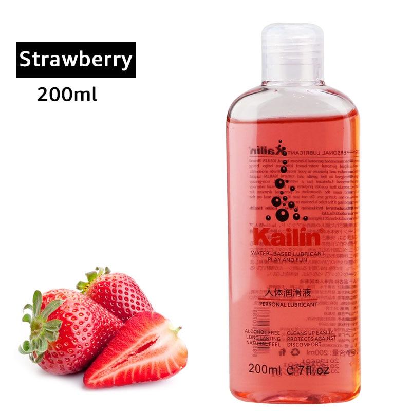 Fruit Flavor Anal Grease For Sex Lubricant Lube Gel Vagina Lubrication 200ml Fruit Taste Water Based Oil Lubricante Sexual