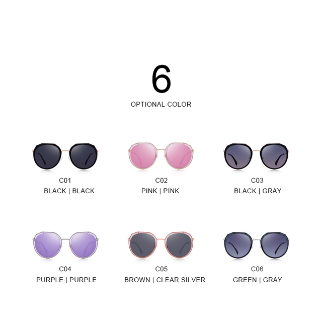 Gafas de sol polarizadas ovaladas de diseño UV400