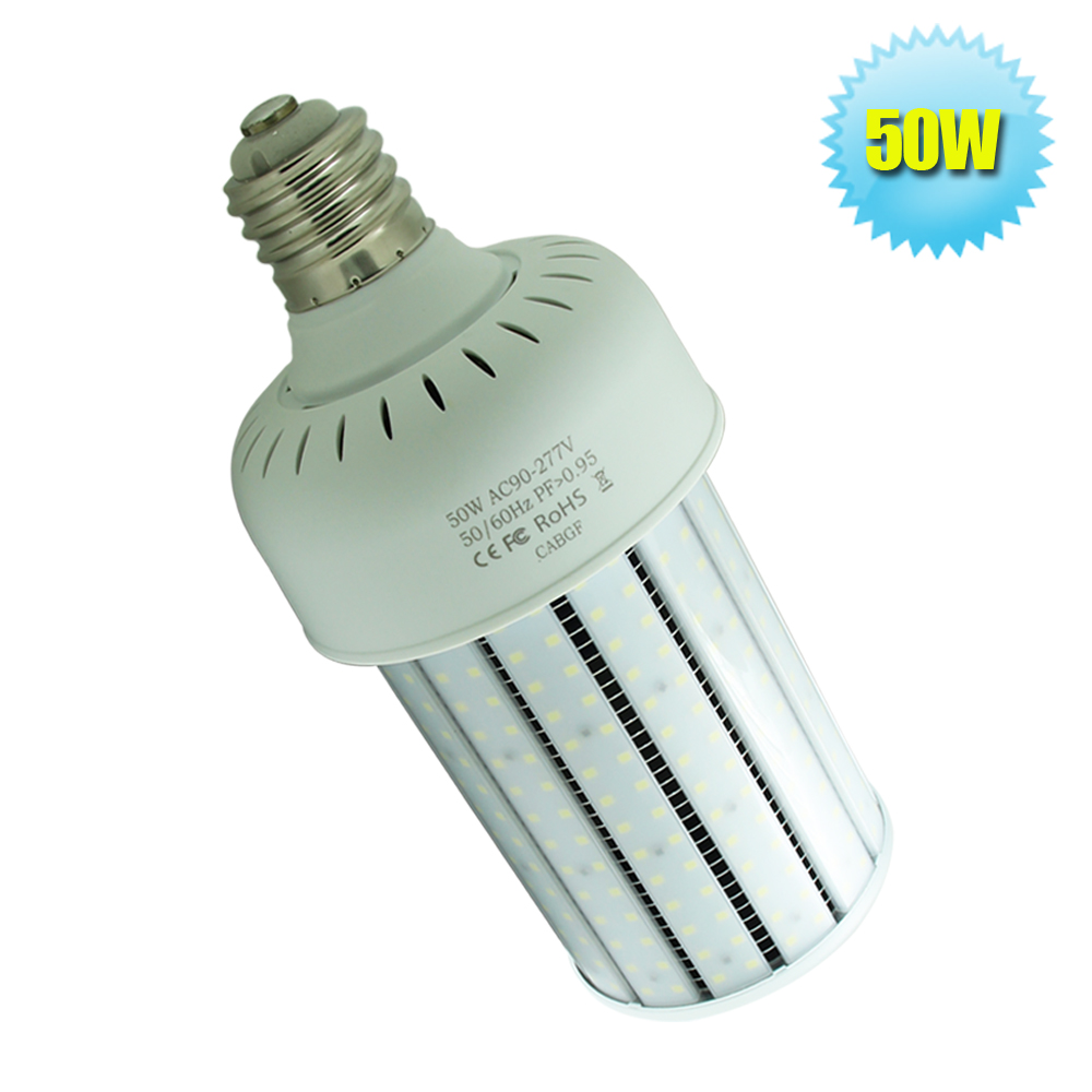 E39 Socket 360 Beam Angle LED Bulb Outdoor Light 50W With Milky PC Cover  110V 220V