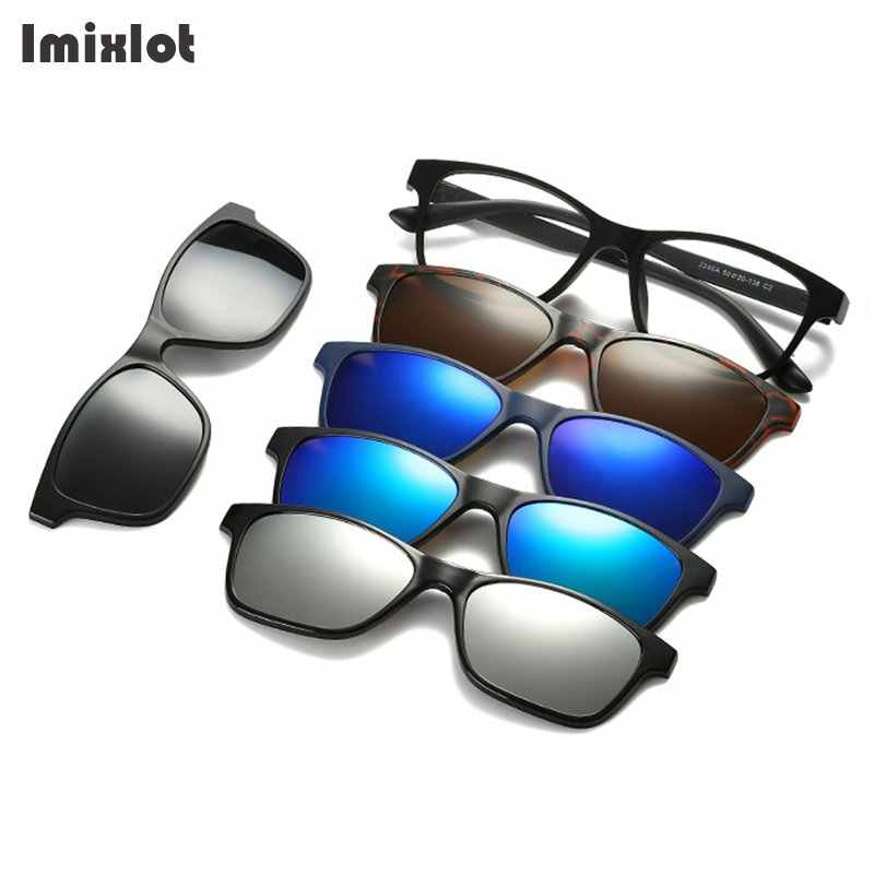 94e9f8a1bdd ... Imixlot Sunglasses Women Men Polarized Magnetic Clip On Sunglasses  Driving Glasses Myopia Magnet Sun Glasses with ...