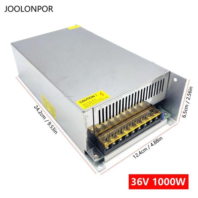 AC 220V 230V 240V DC 36V 27.8A 1000W Đèn LED Chiếu Sáng Cung Cấp Điện Biến Hình 36V Công Suất 1000W Cho Dải Đèn LED