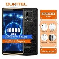 OUKITEL K7 Мощность 2G Оперативная память 16G Встроенная память мобильного телефона Android 8,1 MT6750T Octa Core 6,0