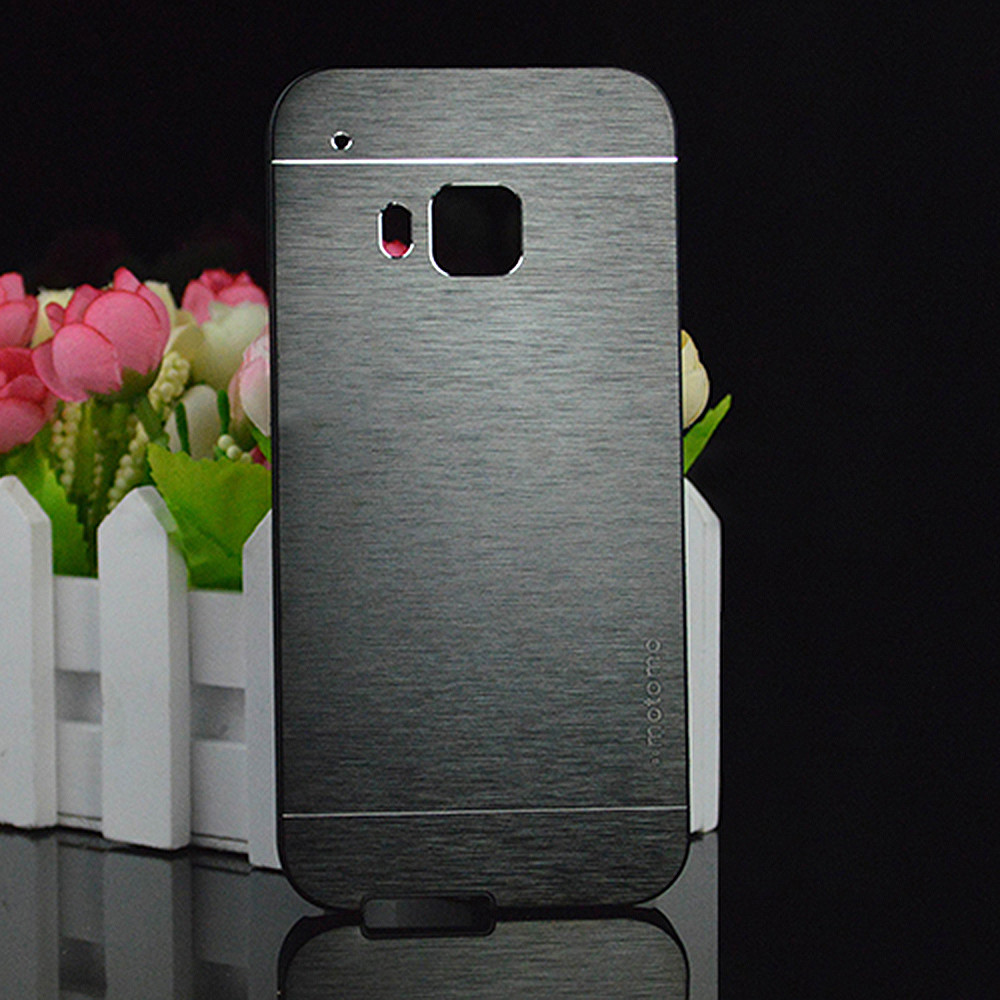 For HTC One M9 HTC One Hima ONE A9 Fashion Motomo Brushed Aluminum Metal Plastic Case Cover Capa Celular funda hood