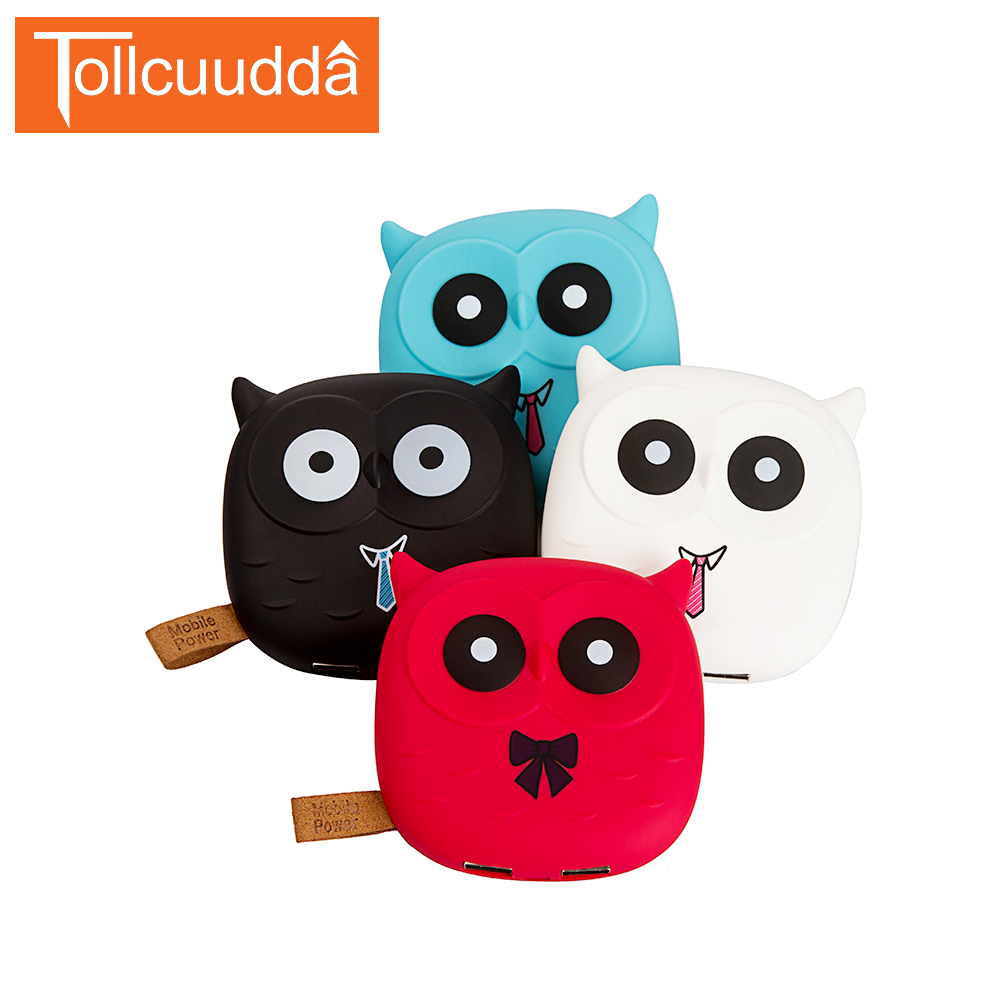 18650 Cute Cartoon Owl Power Bank Portable Charger Battery For Iphone Mobile Cell Phone Xiaomi Small
