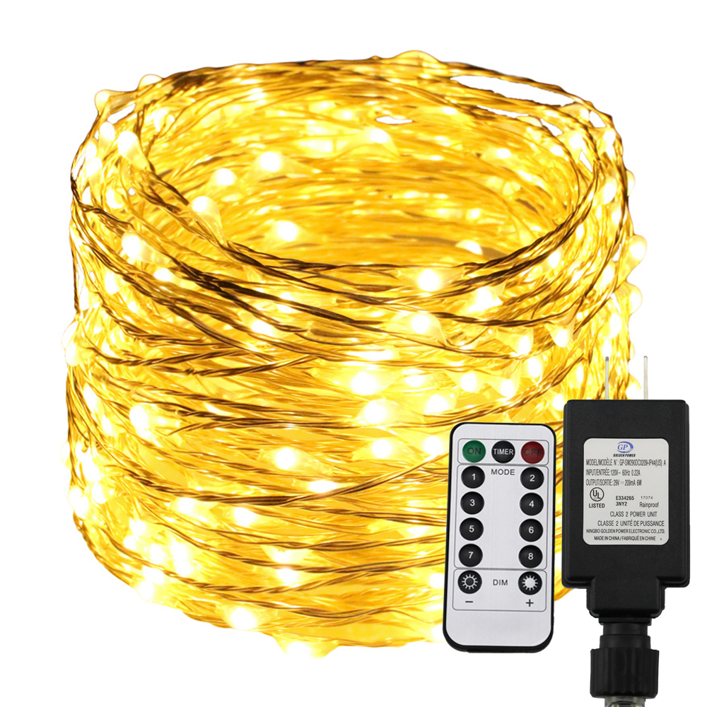 Remote Timer Dimmable Led String Light 300 500 LEDs Starry Lights 30M 50M Warm White Christmas