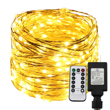 Remote&Timer Dimmable Led String Light 300/500 LEDs Starry Lights,30M/50M Warm White Christmas Fairy Rope Lights+UL US Adapter