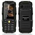 Ip67 a prueba de polvo a prueba de choques impermeable original del teléfono móvil v3 vkworld piedra 2.4 ''dual sim 5200 mah power bank teléfono gsm al aire libre