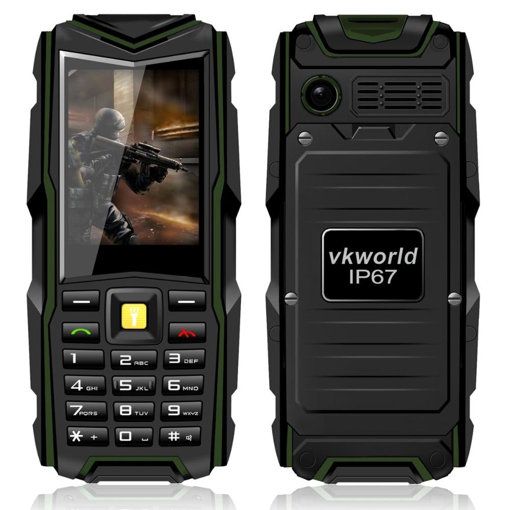 Waterproof Mobile Phone Original VKWorld Stone V3 IP67 Dustproof Shockproof 2.4'' Dual Sim 5200Mah GSM Outdoor Power Bank Phone