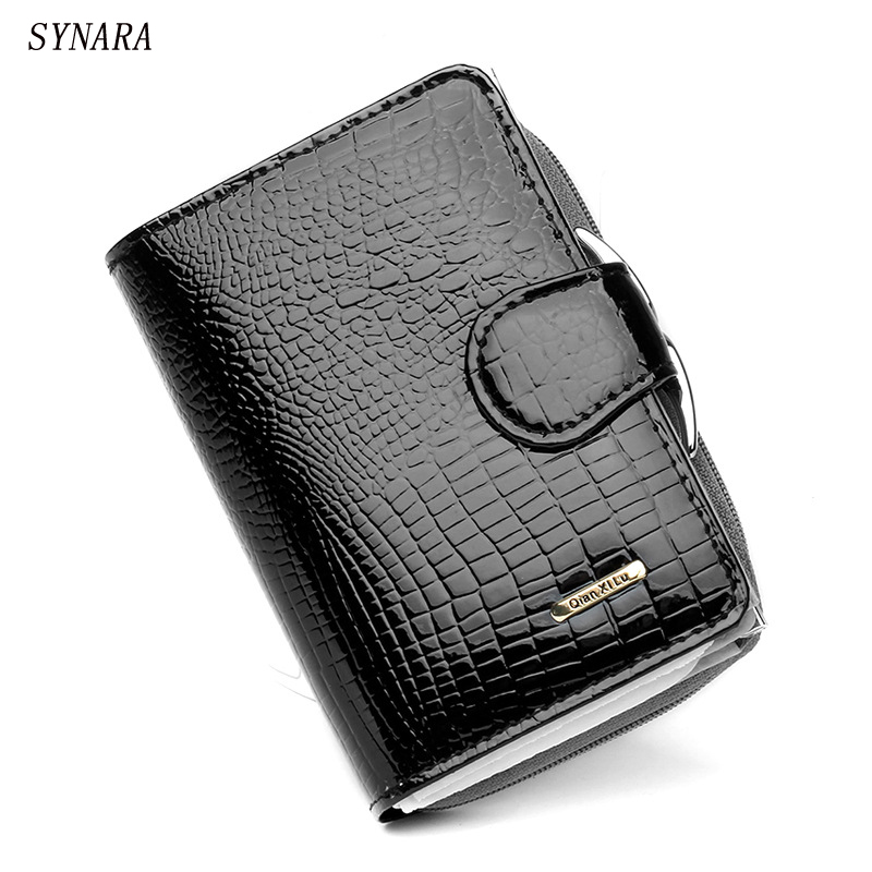 Spainsh patent Leather Women Wallets Design Brand Money Pocket With Card Holder Women's Coin Purse Fashion Ladies Bags simline fashion genuine leather real cowhide women lady short slim wallet wallets purse card holder zipper coin pocket ladies