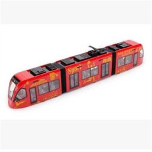 Traject bus subway metal toy model Orbit electric train set door subway long 47cm toy for children large Christmas diecast train