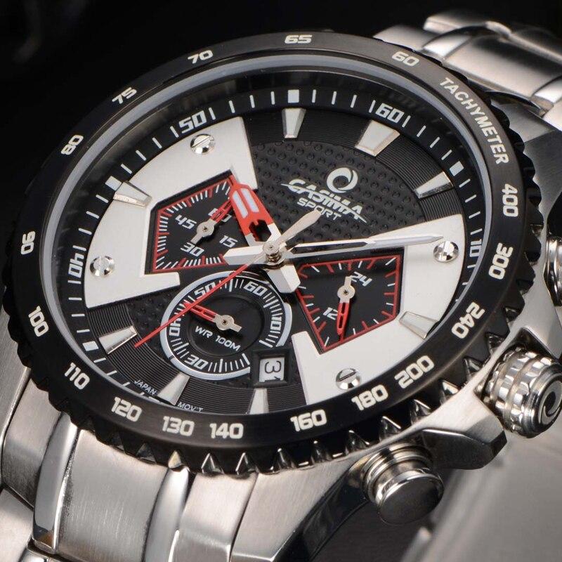 ФОТО CASIMA New brand luxury mens watches leisure multi-function quartz watch reloj hombre bracelet 100m waterproof relogio masculino