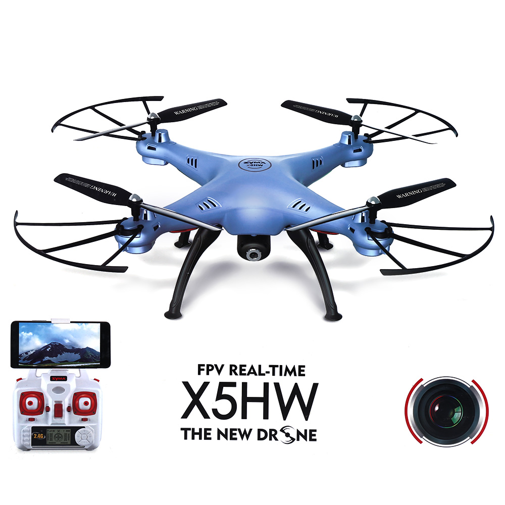 SYMA X5HW WIFI FPV RC Drone With 2MP HD Camera 2.4G 4CH 6Axis Quadcopter,Real Time Video Automatic Air Pressure High syma x8w fpv rc quadcopter drone with wifi camera 2 4g 6axis dron syma x8c 2mp camera rtf rc helicopter with 2 battery vs x101