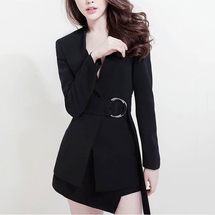 European Women Casual Skirt Suits Long Blazers Short Skirt White Twin Sets Cheap Price Plus Size Quality Two Pieces Set 23