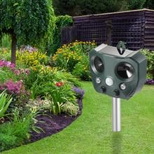 Snake Repeller Solar Ultrasonic Insect Repellent Bird Expulsion Dog Infrared Animal Drives Pest Outdoor