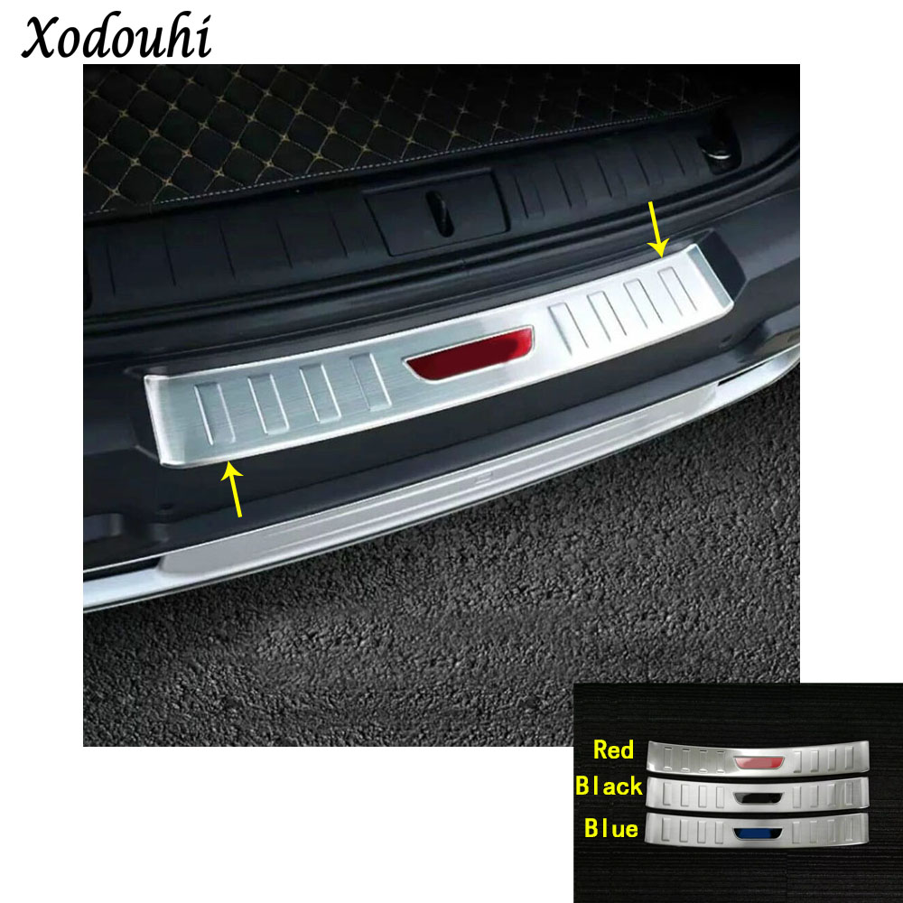 For Jeep Renegade 2016 2017 2018 car external rear bumper panel trunk trim cover Stainless Steel plate pedal molding hoods 1pcs car auto accessories rear trunk molding lid cover trim rear trunk trim for nissan sunny versa 2011 abs chrome 1pc per set