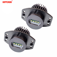 hippcron 2*20W 40W LED Marker Angel Eyes for Bridgelux LED Chips XENON White 7000K for BMW E90 E91 1 Set