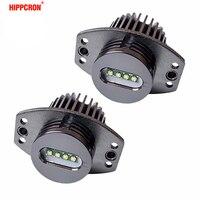 hippcron 2*20W 40W LED Marker Angel Eyes for Bridgelux LED Chips XENON White 7000K for BMW E90 E91 1 Set