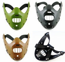 Hannibal The silence of the lambs red dragon Halloween half mask exquisite resin craft masquerade masks mascara