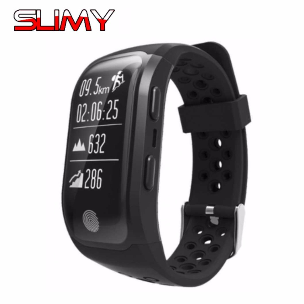Slimy Smart Bracelet S908 GPS Sports Smartband IP68 Waterproof Heart Rate Monitor Fitness Tracker Bluetooth 4.2 for Android IOS fs08 gps smart watch mtk2503 ip68 waterproof bluetooth 4 0 heart rate fitness tracker multi mode sports monitoring smartwatch