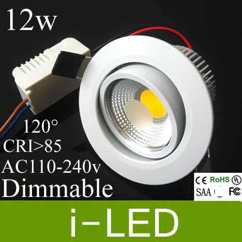 Cree cob led downlights 10w 12w dimmable led recessed lights lamp cree cob led downlights 10w 12w dimmable led recessed lights lamp for home 1080lm warm cold aloadofball Choice Image
