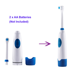 Image 2 - 회전 배터리 전기 칫솔 4 pcs 교체 소프트 브러시 헤드 회전 치아 전기 구강 위생을위한 전기 브러시