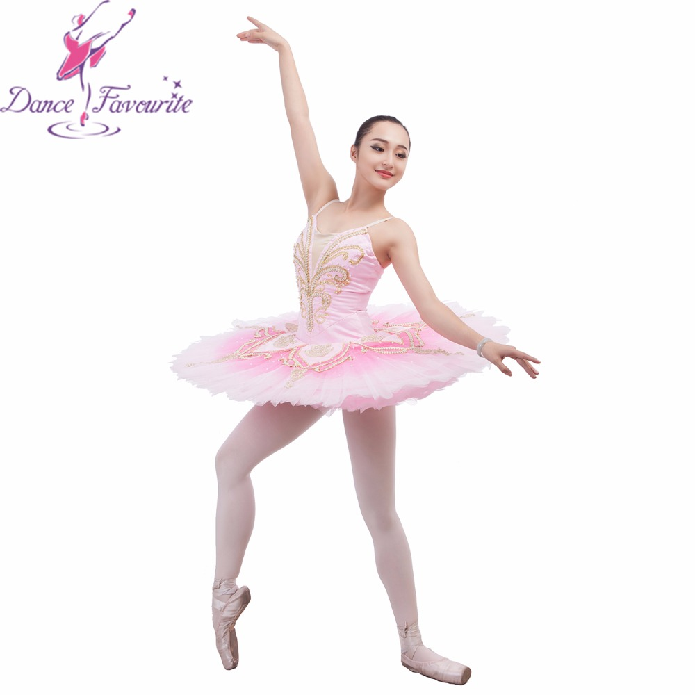Stunning design pink tutu adult women & girl stage performance ballet tutu professional ballerina dance tutu with arm bands