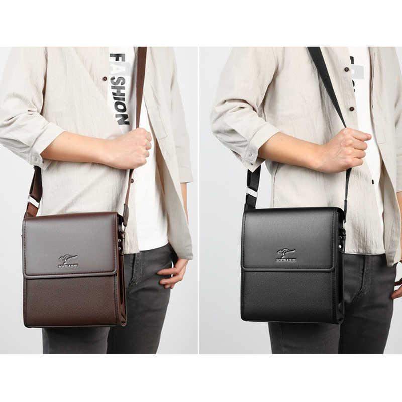 Брендовая деловая мужская сумка-мессенджер, винтажная кожаная сумка через плечо для мужчин, Брендовые повседневные мужские сумки, модные сумки