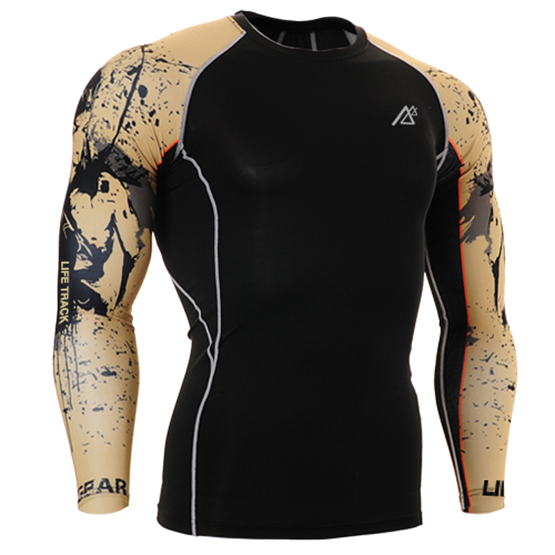 eee456ef35 US $29.98 |Compression Shirts for Men Long Sleeves T Shirt Sides 3D Prints  Rashguard MMA Wear for Workout Fitness Male Tops & T Shirts-in T-Shirts ...