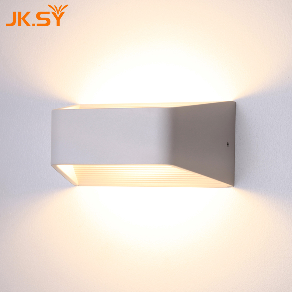 Modern Up & Down Wall Lamp  Bedroom Bedside Led Wall Light Indoor Living Room Painted Warm White Decorative Wall Sconces haptime led wake up bedside light fashion hand touching up
