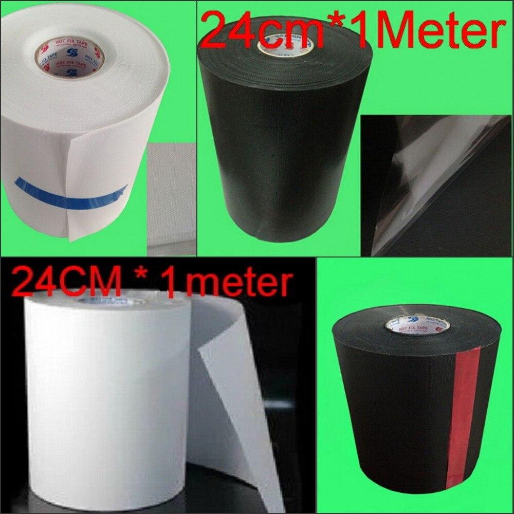 Heat Transfer Paper Hotfix Foil Film Hot Fix Rhinestone Mylar Tape 24cm width Iron On PVC plastic
