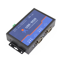 Q18040 USR N520 Serial to Ethernet Server TCP IP Converter Double Serial Device RS232 RS485 RS422 Multi host Polling