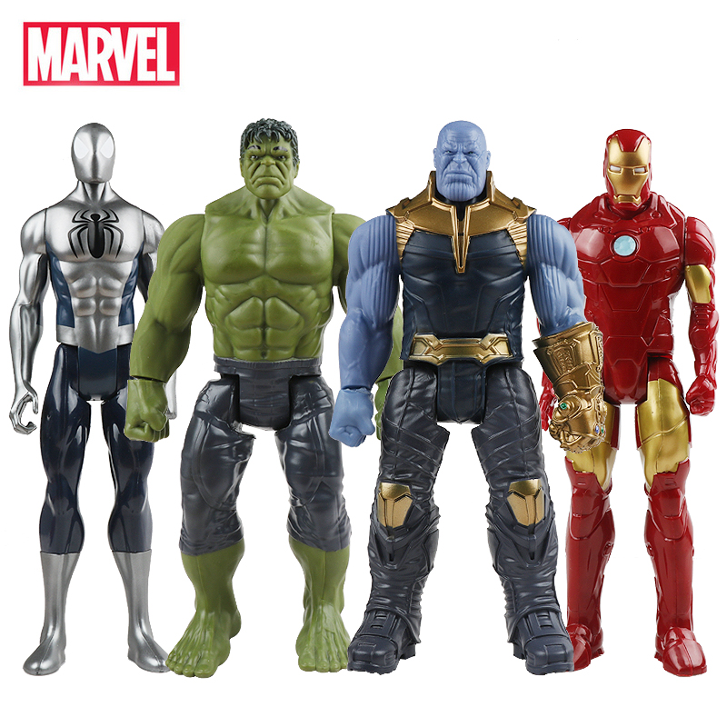 30cm Hasbro Marvel The Avengers Toys Infinity War Thanos Hulk Buster Spiderman Iron Man Captain America Thor Action Figure Dolls 30cm q versions the avengers plush dolls iron man spiderman captain america hulk thor plush soft doll set