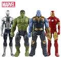 30cm Hasbro Marvel The Avengers Toys Infinity War Thanos Hulk Buster Spiderman Iron Man Captain America Thor Action Figure Dolls