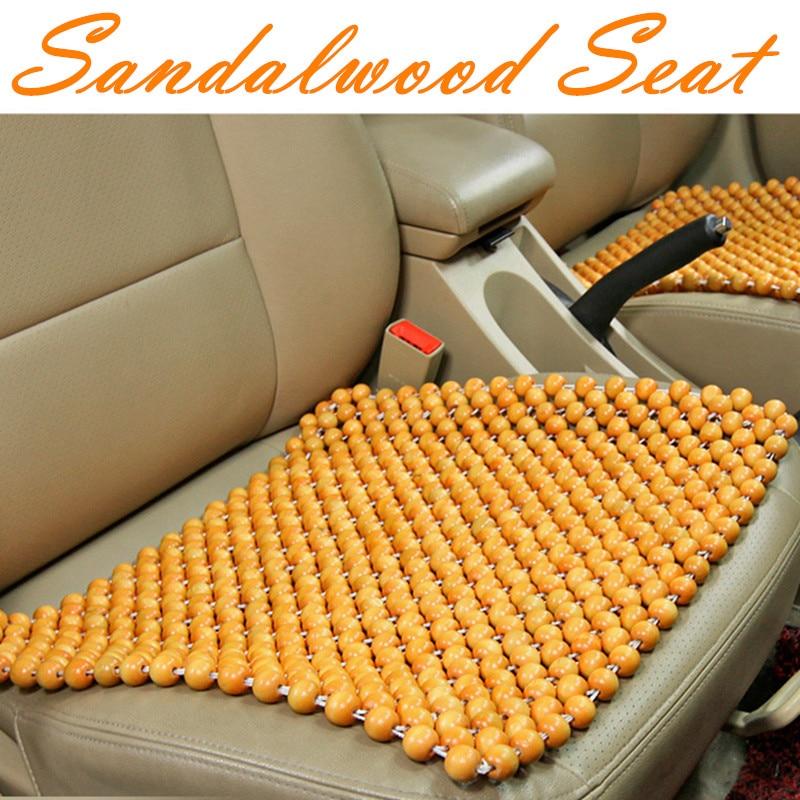 1 Piece Summer Car Seat Cedar Cushion Car Seat Sandalwood Bead Automobiles Cushion Four Seasons Universal