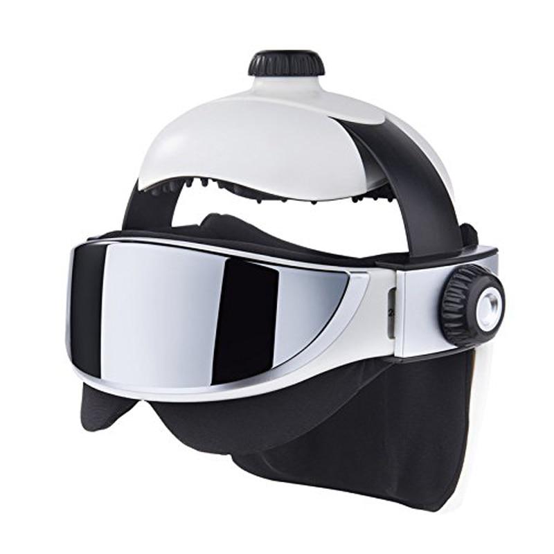 Electric Heating Neck Head Massager Music Muscle Stimulator Pressure Relax Anti stress Vibration Helmet Far Infrared