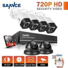 Hotting SANNCE Full 8CH 720P DVR Kit CCTV System 1.0mp 1200TVL CCTV Security Cameras P2P Cloud Service Video Surveillance kit