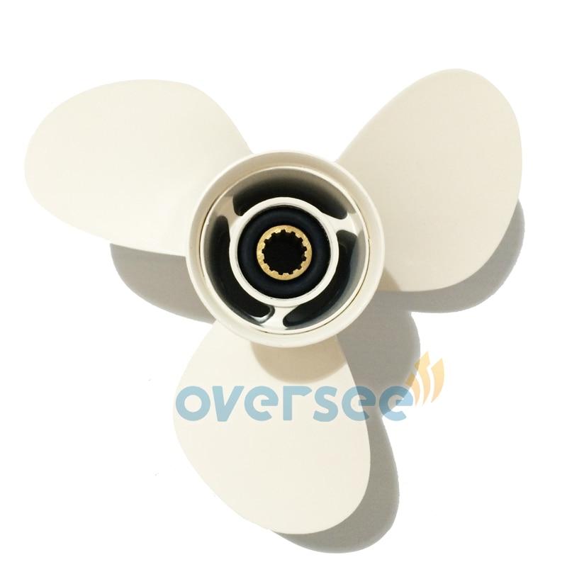 OVERSEE Aluminum Propeller 69W-45958-00-EL(663-45958-01-EL ) 11 1/4x14 for Yamaha Outboard Motor Motor 40HP 60HP 11 - 1/4 x 14 oversee aluminum propeller 664 45949 02 el size 9 7 8x13 f for yamaha 25hp 30hp outboard engine69p 61n 9 7 8x13 f