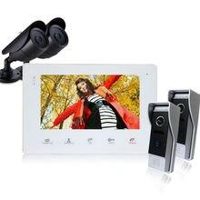 Homefong 7 Pulgadas a Color LCD de Video Teléfono de La Puerta de Desbloqueo de Liberación de La Puerta del intercomunicador del Timbre del Sistema de Intercomunicación de vídeo timbre de la puerta cámara