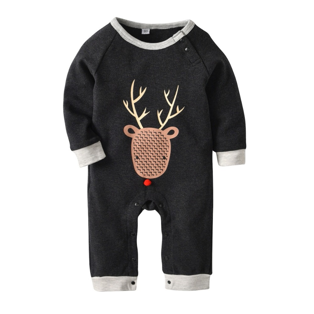 2018 Baby Boy Girl Christmas Clothes Infant Baby Christmas Outfit One Piece Jumpsuit Bebe Kids New Years Playsuits Clothes 0-18M