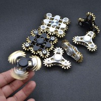 2017 Hot Sale Toothed Anti Stress Alloy Gearing Fidget Spinner EDC Hand Spinner Stress Relive Toy