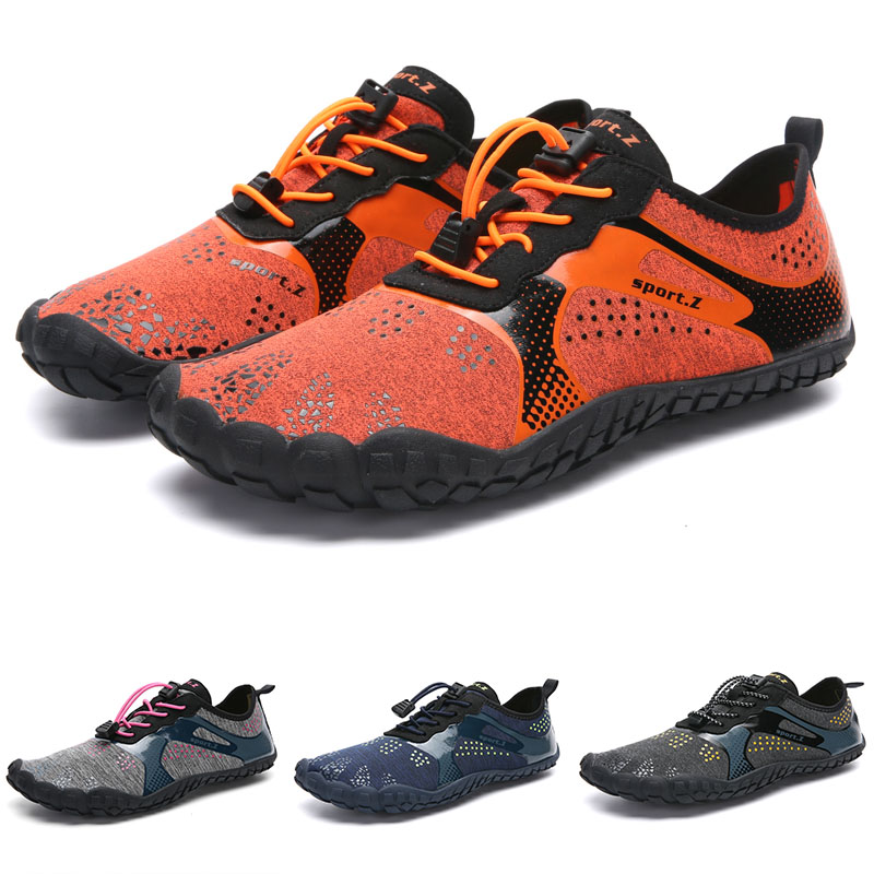 Summer Water Shoes Men Swimming Shoes Aqua Beach Shoes Big Plus Size Sneaker for Men Striped Colorful zapatos hombre Size 35-46