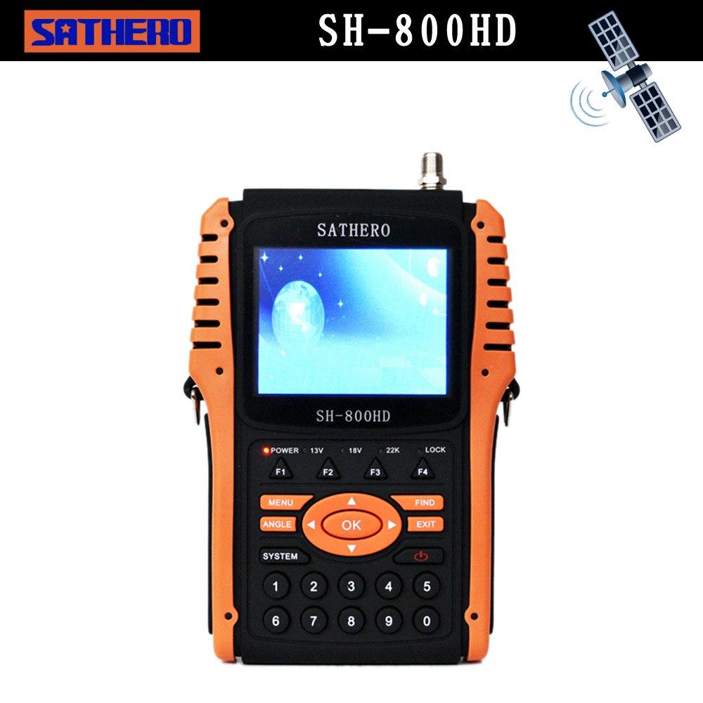 3.5inch Sathero SH-800HD DVB-S2 HD digital Satellite Finder MPEG-4 Satelite Meter 1080P TV Signal satfinder built in battery