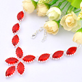 Top Jewelry New Fashion Crystal Necklaces Garnet Necklace For Women Valentine's Gifts N0601