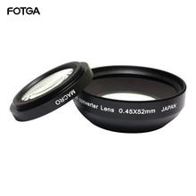 FOTGA 52mm 0.45x Camera Lenzen Groothoek & Macro Conversion Lens 0.45x52 Voor CANON NIKON SONY 52MM LENS
