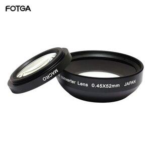 Image 1 - FOTGA 52mm 0.45x Camera Lenzen Groothoek & Macro Conversion Lens 0.45x52 Voor CANON NIKON SONY 52MM LENS