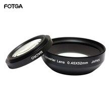 FOTGA 52mm 0.45x Kamera Lensler Geniş Açı ve Makro Dönüşüm Lens 0.45x52 CANON NIKON SONY Için 52MM LENS