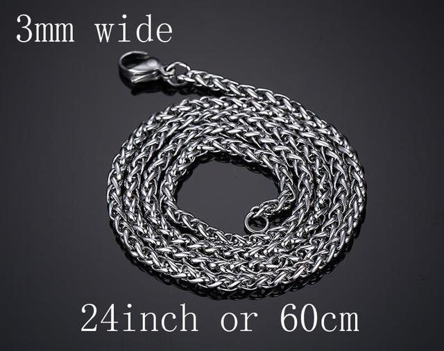 Men Fashion Stainless Steel Silver Plated Snake Chain